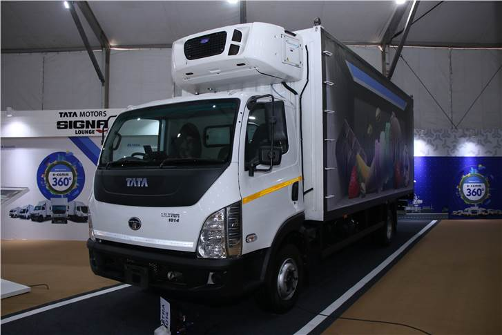 ULTRA 1014MS Reeefer displayed at the Tata Motors E-commerce Expo 2019.