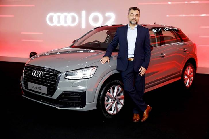 """Balbir Singh Dhillon: """"Our sixth launch for the year – the Audi Q2 – is another solid step in our endeavour to provide Indian customers with a wider range of choices from the Audi portfolio."""""""