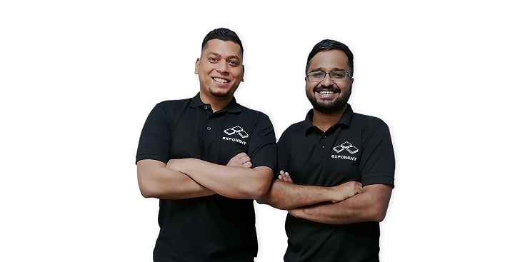 L-R: Exponent Energy co-founders Arun Vinayak and Sanjay Byalal.