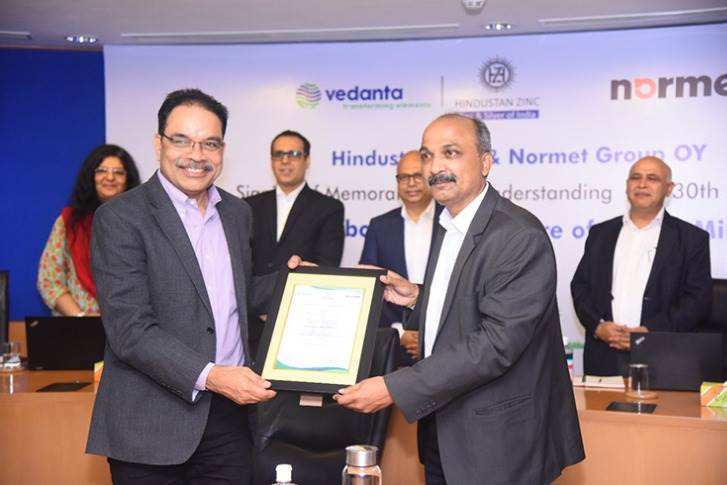 Hindustan Zinc and Normet signed the MoU today. The Normet SmartDrive EV will significantly help HZL achieve substantial saving in high speed diesel and related maintenance costs