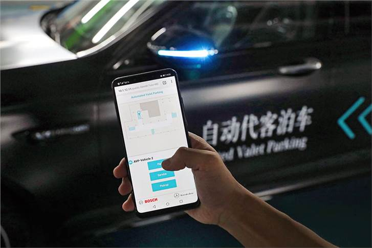 Through Automated Valet Parking, the user can retrieve the vehicle via his/her smartphone app.