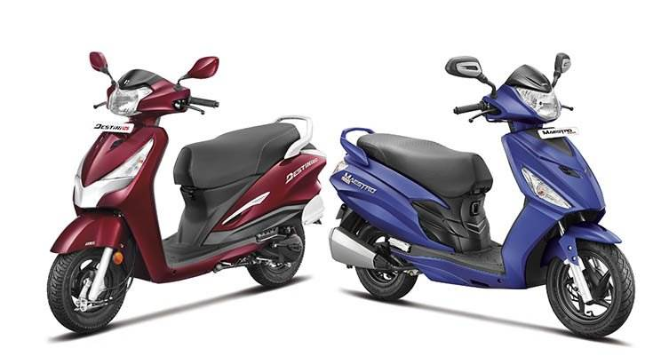 The Destini 125 is to be soon joined by the Maestro Edge, Hero