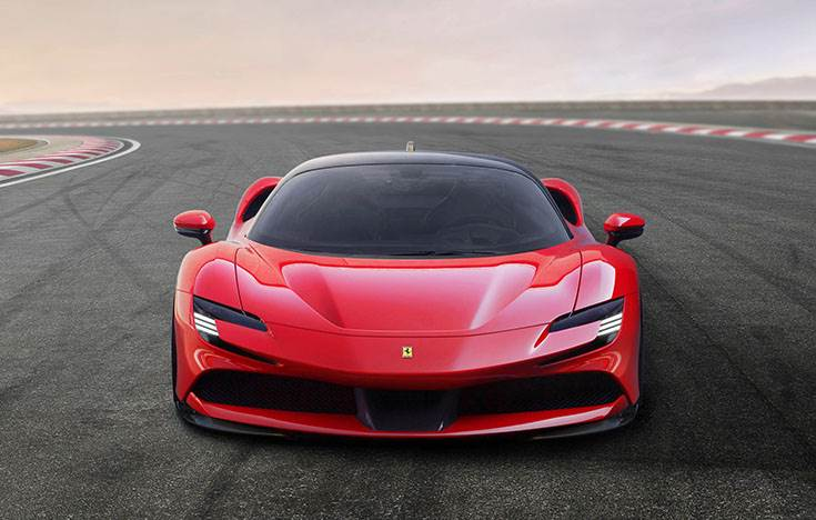 The SF90 Stradale. The new flagship model is also the first series-production plug-in hybrid Ferrari.