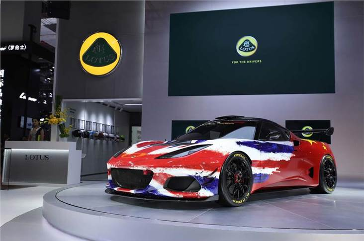 Lotus unveiled the Evora GT4 concept in Shanghai this year