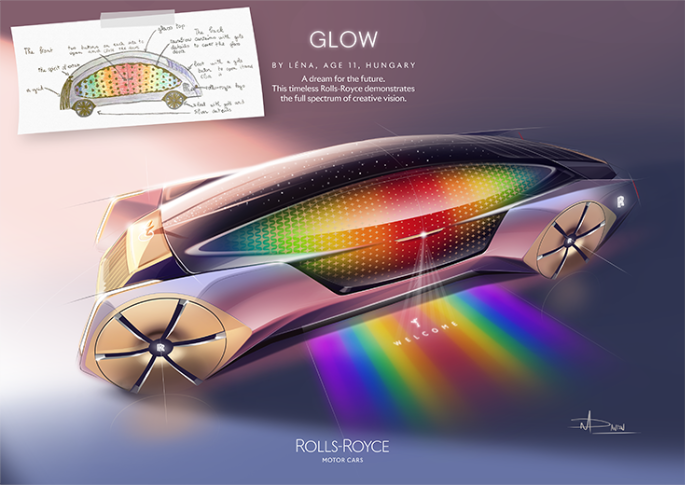 Rolls-Royce Glow by Léna, age 11, Hungary.