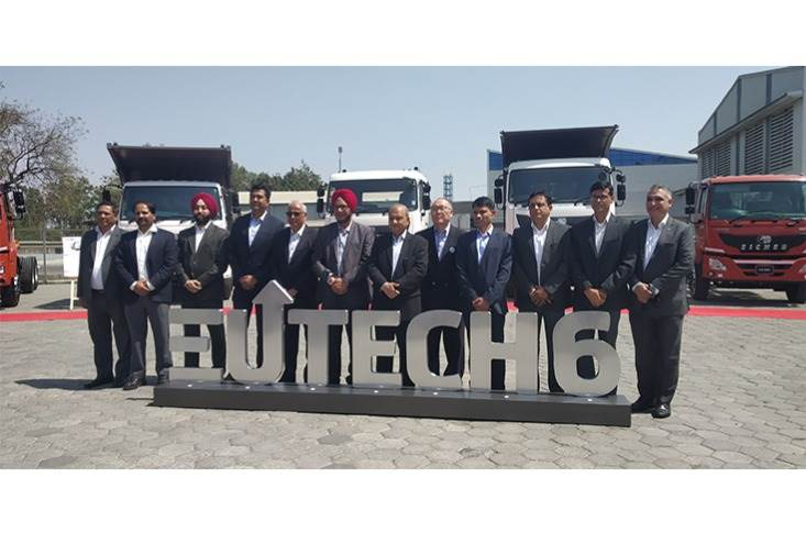 The VECV team at the reveal and launch of the BS VI truck and bus range.