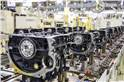Hyundai puts together the engine and transmission from scratch at the engine shop.