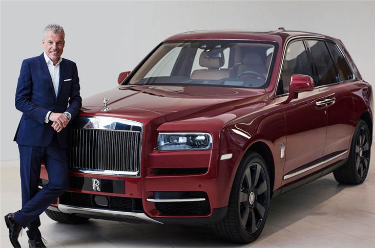 Rolls-Royce CEO Torsten Müller-Ötvös with the brand