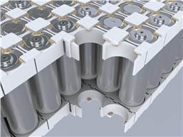 Battery modules with cylindrical cells are constructed with Covestro's Bayblend material and efficiently assembled with Henkel's Loctite adhesive.