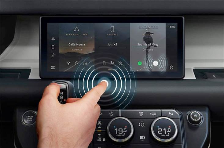 'Predictive touch' uses artificial intelligence and sensors to control infotainment systems without needing to touch the screen.