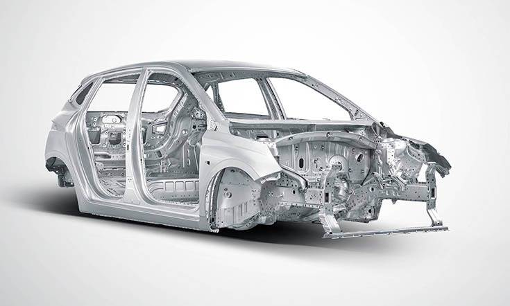 The new Hyundai i20 is composed of Advanced High Strength Steel and High Strength Steel which form roughly 66 percent of its body-in-white.