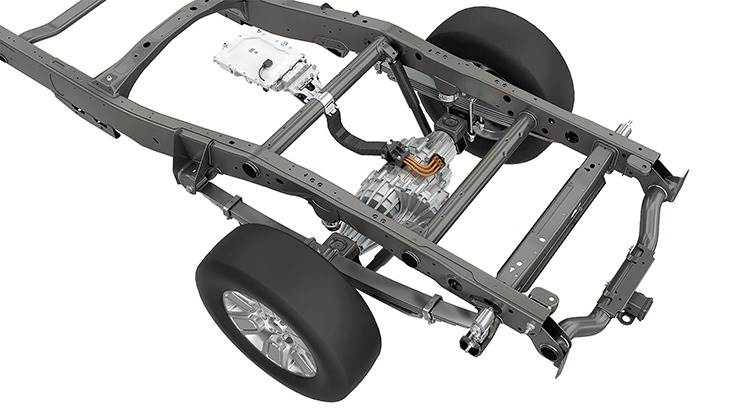 Available with single- or dual motors, eBeam can be scaled to fit many beam-axle vehicles, including light commercial vehicles.