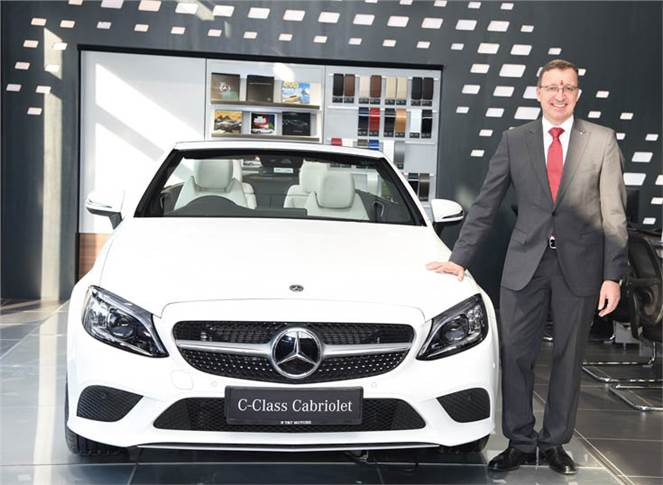 Martin Schwenk, MD and CEO, Mercedes-Benz India at the inauguration of the first-ever luxury automobile dealership in Jodhpur.