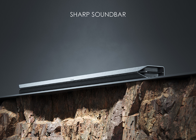 Sharp Soundbar stood out for its simple and minimal shapes in the