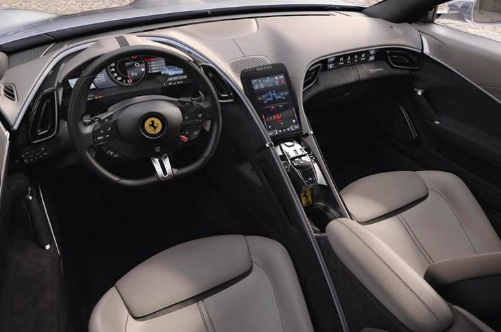 Ferrari claims a 0-62mph time of 3.4secs, and a top speed of more than 199mph