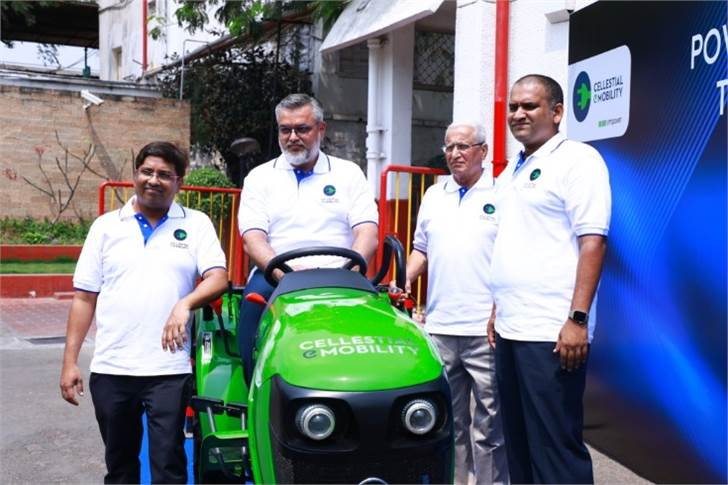 (L-R) Cellestial E-Mobility founders Siddarth Durairajan, CEO; Syed Mubasheer Ali, partner; Vinod Moudgil, director and Midhun Kumar, director manufacturing.