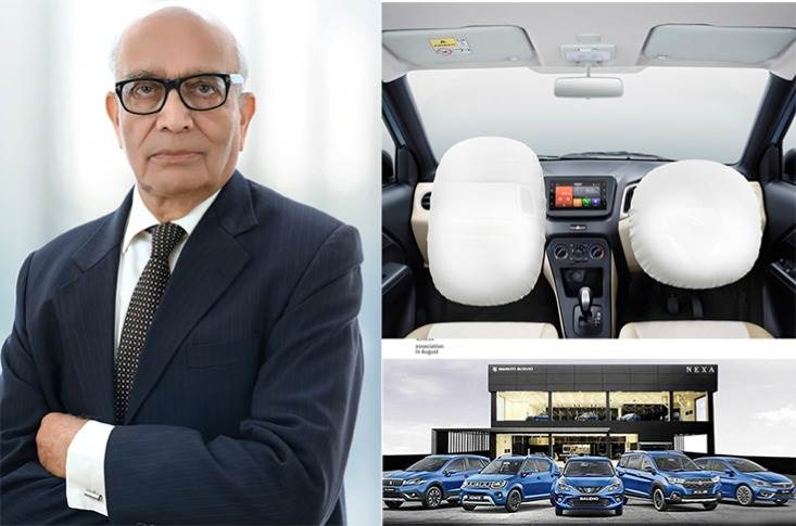 """RC Bhargava:""""Putting additional airbags is not a problem but who would pay the cost & where is people's ability to buy such cars?Without buyers, it will impact the auto industry"""