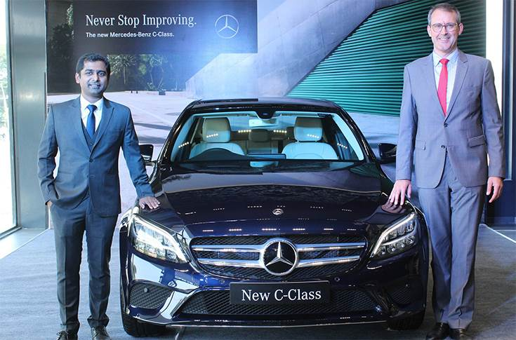 L-R: Om Moharir, director, Indisch Motoren and Michael Jopp, vice president - sales and marketing, Mercedes-Benz India at the inauguration of Mercedes-Benz 3S luxury dealership in Aurangabad