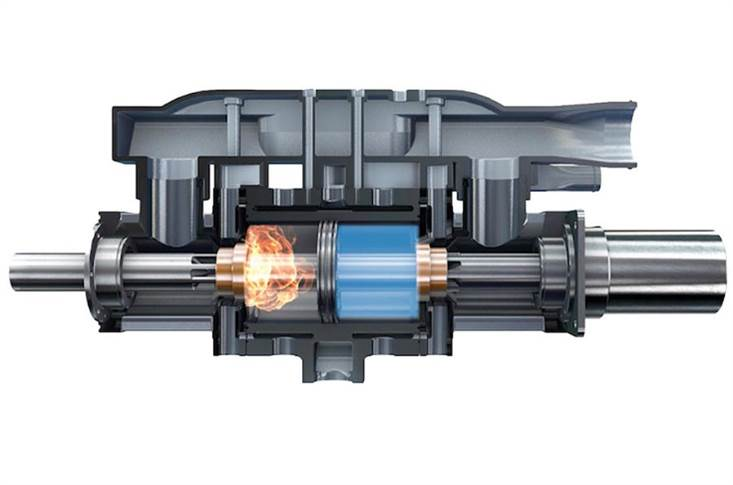. Powered by hydrogen, the Aquarius Two Sided Free Piston Linear Engine (FPLE) is designed to generate electricity for plug-in series hybrids or range-extenders.