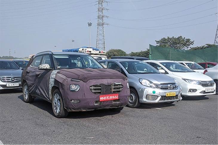The new Creta was snapped testing in Gurgaon last month. (Pic: Mayank Dhingra).