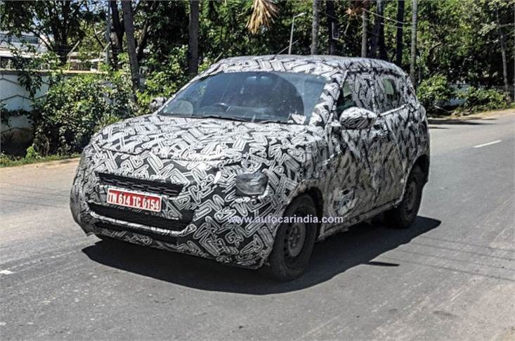 Citroen C21 snapped road testing in India.
