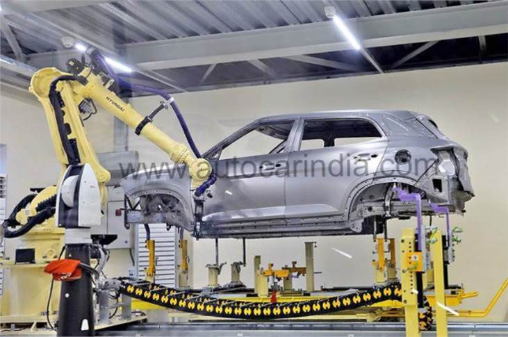 The Chennai factory also stamps 17 new body panels for the new Creta. The model is put together at Hyundai's Plant 1, which will churn out the last few examples of the outgoing Creta, in addition to the Venue and i20.