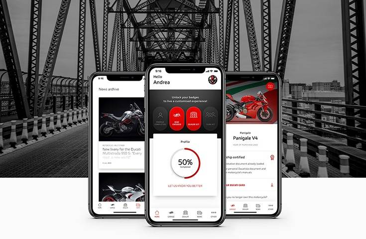 With the new app, Ducatisti always have the data of their motorcycles with them and can locate the nearest dealer to contact them quickly.