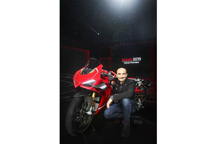 Claudio Domenicalli, CEO of Ducati at the unveiling of the 2019 range