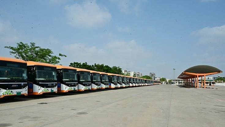 JBM Auto's end-to-end e-mobility ecosystem at the Vastral depot includes the buses, charging infra and power infrastructure and maintenance.