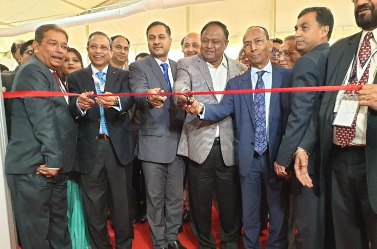Tipu Munshi, minister of Commerce, government of the Bangladesh with the other guests and dignitaries at the inauguration of the Indo-Bangla Automotive Show in Dhaka.