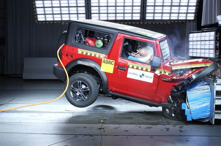 The new Mahindra Thar, which scored a 4-star rating, was the 42nd made-in-India passenger vehicle crash tested by Global NCAP since 2014.