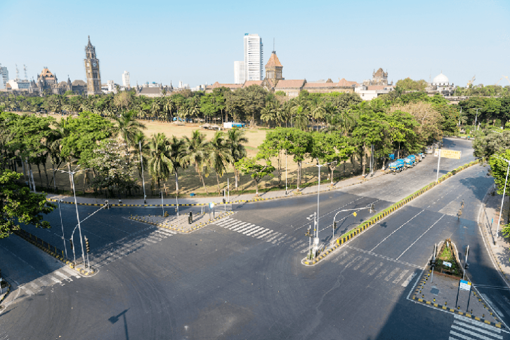 The nationwide lockdown, due to Covid-19, was from April through to mid-May. This is a photo of a traffic-less Mumbai and the iconic Oval Maidan. (Pic: LMC Automotive)