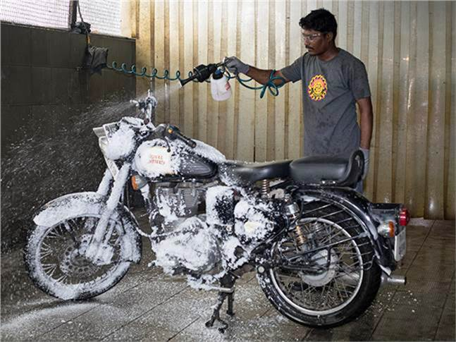 By employing a dry-wash operation at its 20 service centres in Chennai, Royal Enfield saves 18 lakh litres of water every month.