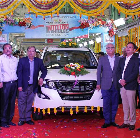 An XUV500 is the millionth vehicle to roll out of the Chakan, Pune plant, which was set up in March 2010.