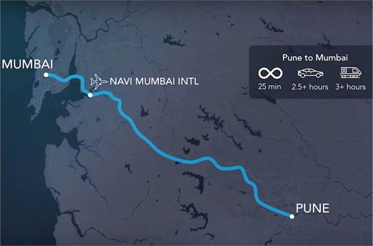 The Indian connection. In February 2018, Virgin Hyperloop inked a pact with the Maharashtra government to connect Mumbai and Pune, slashing 3-hour travel time to 25 minutes.