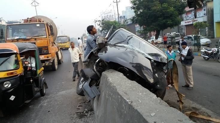 In 2019,449,002 road crashestook place in India, leading to 151,113 fatalities and leaving 451,361 injured. Over-speeding is one of the major causes behind road crashes. (Photo: Subhash Simhudu)