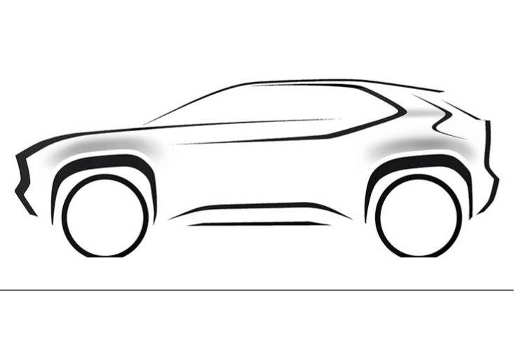 Toyota first confirmed the model of the planned small SUV for Europe with this sketch in January.