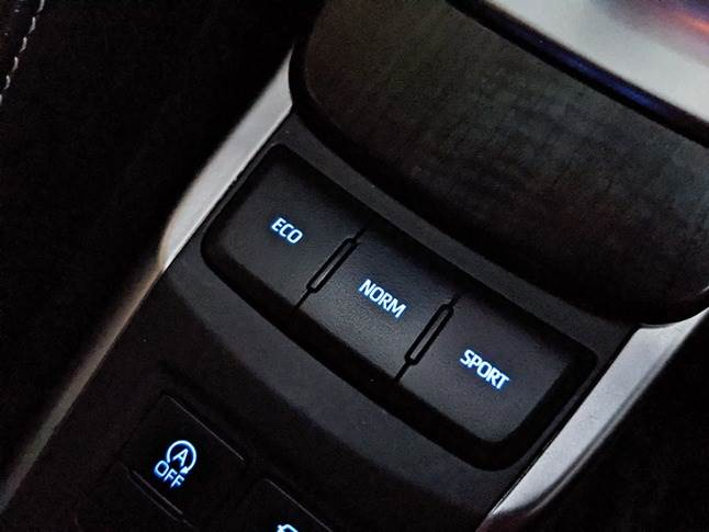 Three driving modes considerably modulate Fortuner