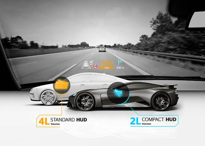 In June 2019, Continental Engineering Services developed a compact head-up display which is particularly suitable for vehicles with limited installation space such as sports cars.