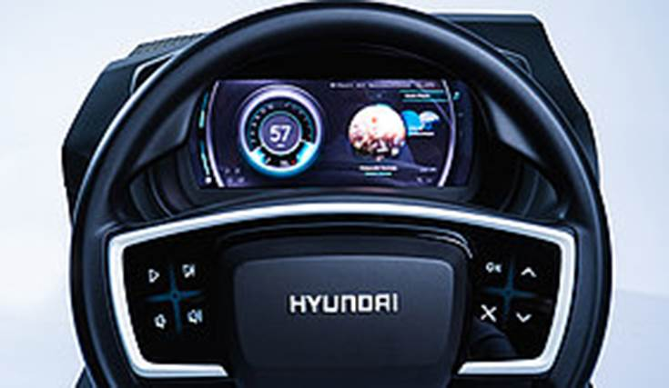 The USP of the touch-steering wheel is that it enables the driver to control all vehicle functions from radio volume to seat heating without letting go of the steering wheel.
