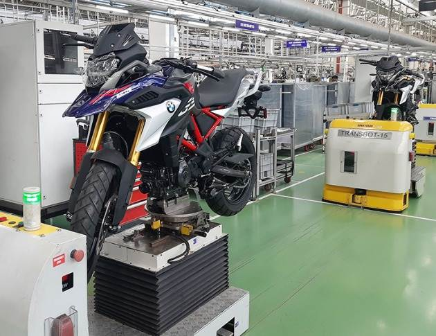 On October 1, 2020, the new BMW 310 GS rolled out in Hosur from the assembly line at TVS Motor Co, BMW Motorrad cooperation partner.