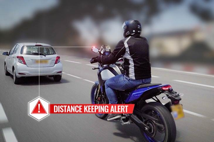 Wide-angle cameras and LED alerts with Ride Vision technology mean riders can stop accidents before they happen.