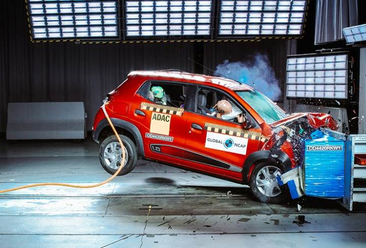Renault Kwid scored just two stars in Safer Cars for Africa test, whose results were announced on December 3, 2020.