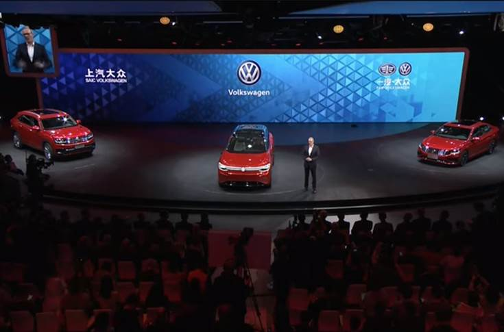 Dr Stephan Wollenstein, CEO of Volkswagen Group China at 2019 Auto Shanghai