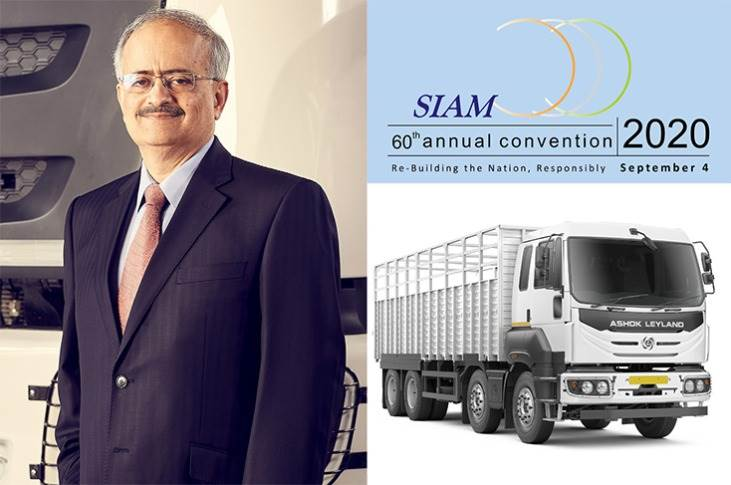 Vipin Sondhi, MD and CEO, Ashok Leyland has been elected vice-president of SIAM.