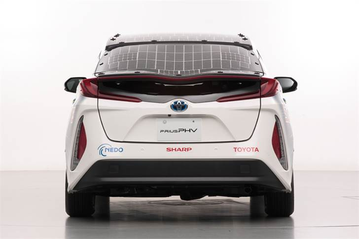 The demo car is equipped with a solar battery panel that utilises several solar battery cells with a conversion efficiency of 34 percent-plus.