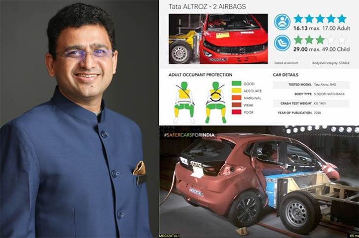 "Vivek Srivatsa: ""Today, a huge number of our customers put safety as the number one reason why they buy a Tata car."""