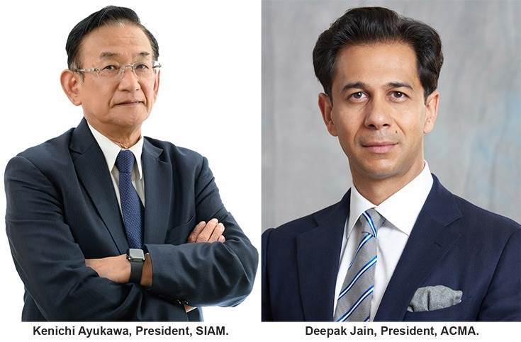 SIAM president Kenichi Ayukawa and ACMA president Deepak Jain have welcomed the new production-linked incentive scheme for India Auto Inc.