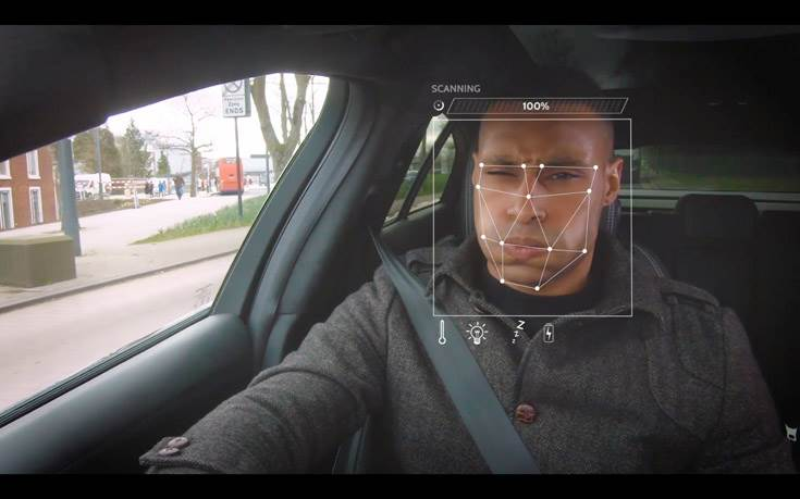 AI technology uses a driver-facing camera and biometric sensing to monitor and evaluate the driver's mood and adapt a host of cabin features, including HVAC, media and lighting.