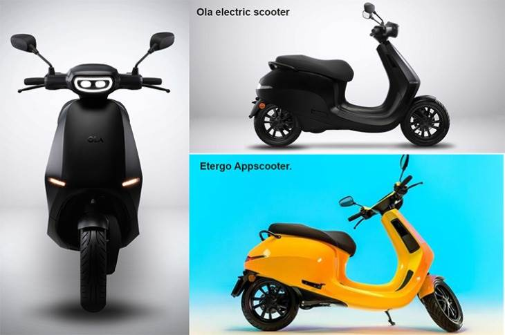 The Ola scooter looks very similar to the high-tech Etergo AppScooter. It is likely that the made-in-Tamil Nadu EV will have changes made for the Indian market and also to keep costs low.